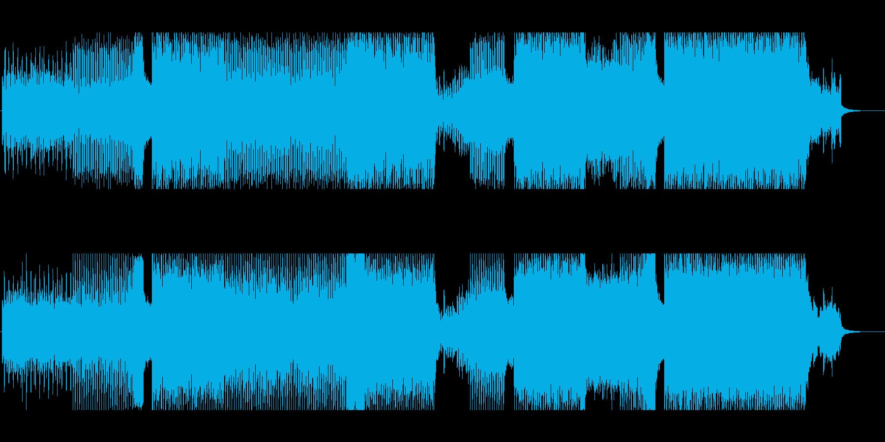 クラブイベントで流れる躍動感のあるEDMの再生済みの波形