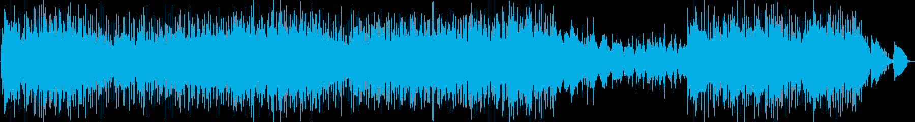 ポップスバラード調のピアノ曲の再生済みの波形