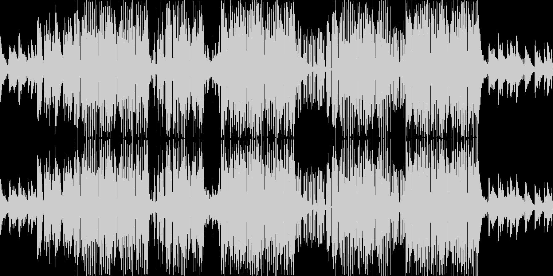 ラッパーっぽいダーク系BGMの未再生の波形