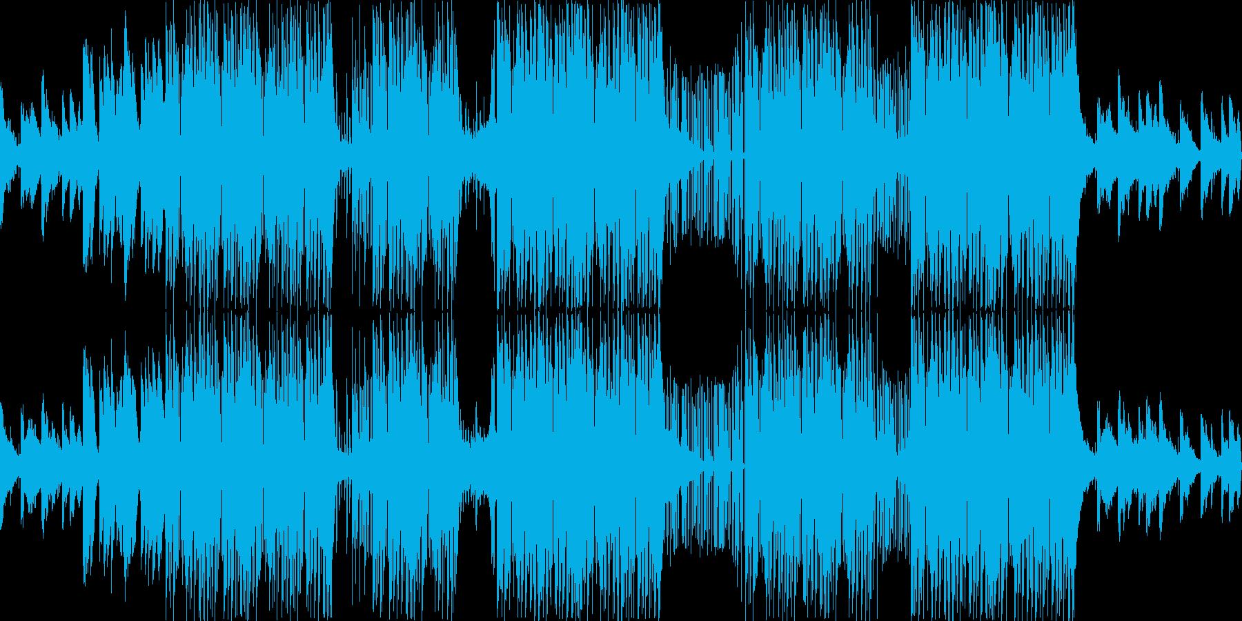 ラッパーっぽいダーク系BGMの再生済みの波形