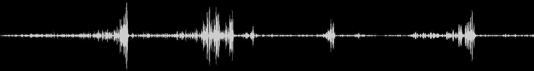 ページめくり音の未再生の波形