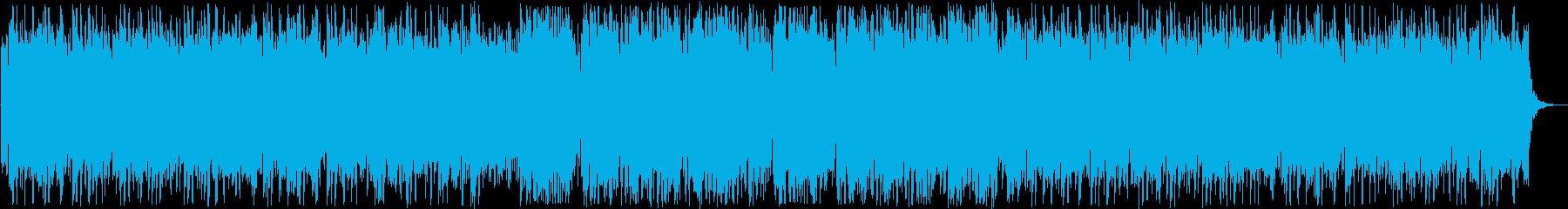 柔らかい音色のリラクゼーション曲の再生済みの波形