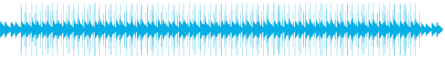落ち着くシンプルなLo-fiHipHopの再生済みの波形