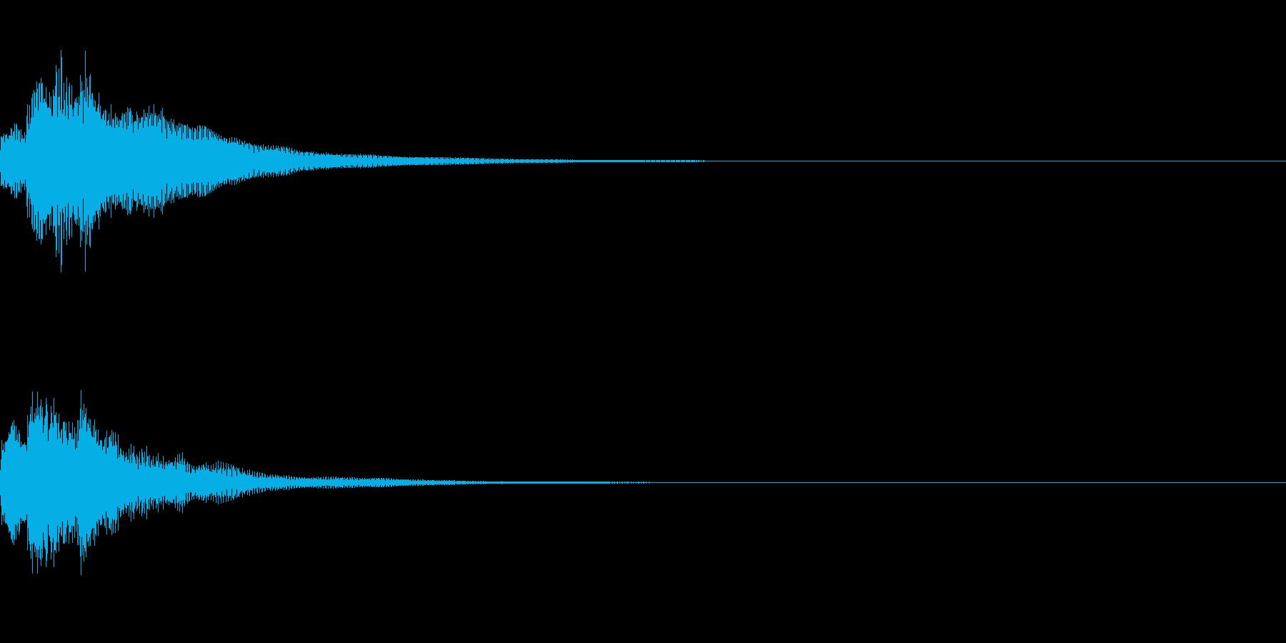 テレレレン 上がる (ゲーム効果音)の再生済みの波形