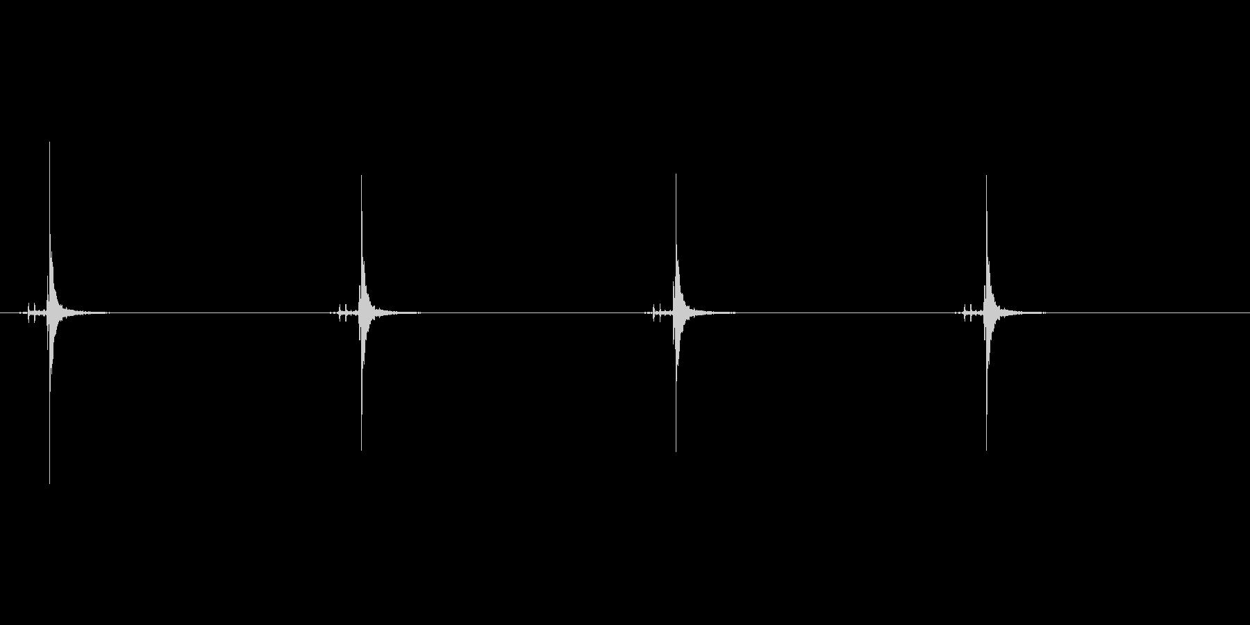 時計の秒針の音 1E 小さな時計の未再生の波形
