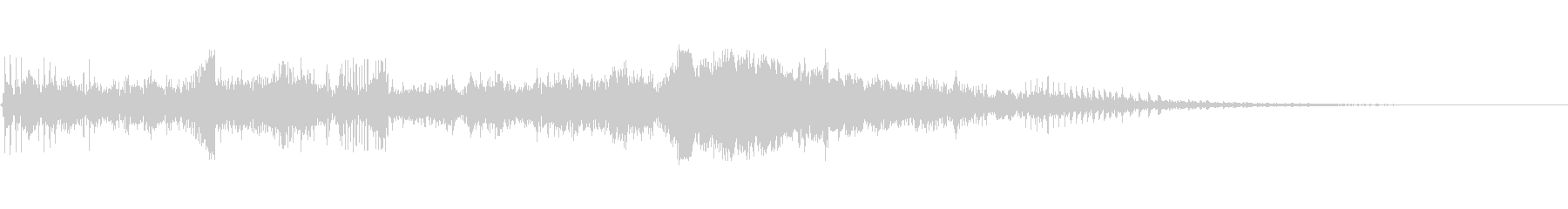バックワードリバースノイズパルスの未再生の波形