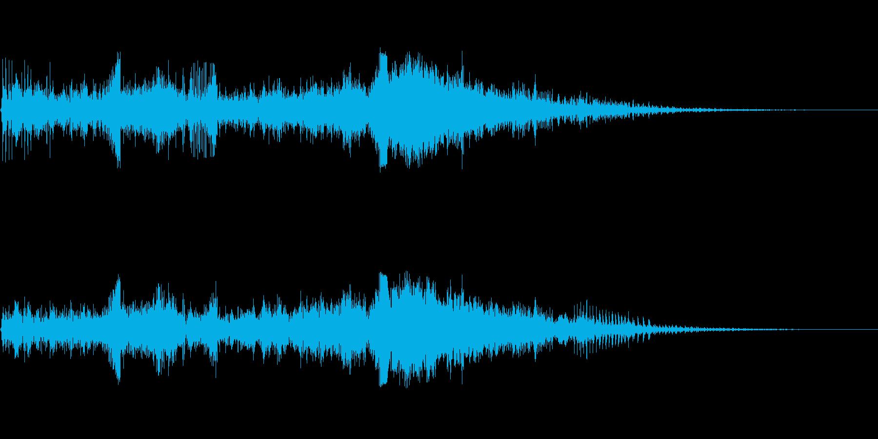 バックワードリバースノイズパルスの再生済みの波形
