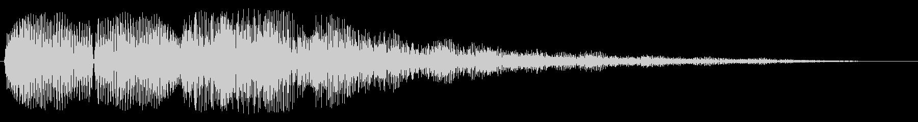 エコーあり着信音(シンセ)の未再生の波形