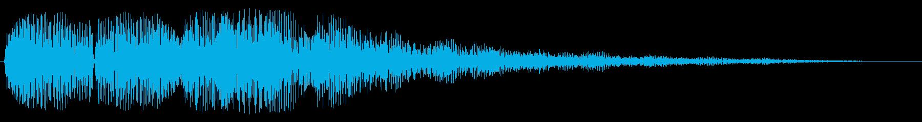 エコーあり着信音(シンセ)の再生済みの波形
