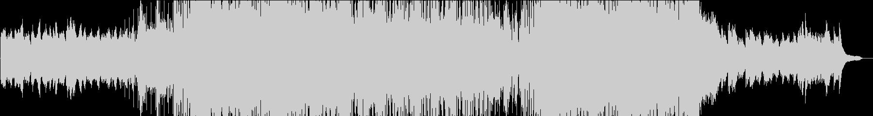 始まりを予感する和風ドラムンベースの未再生の波形