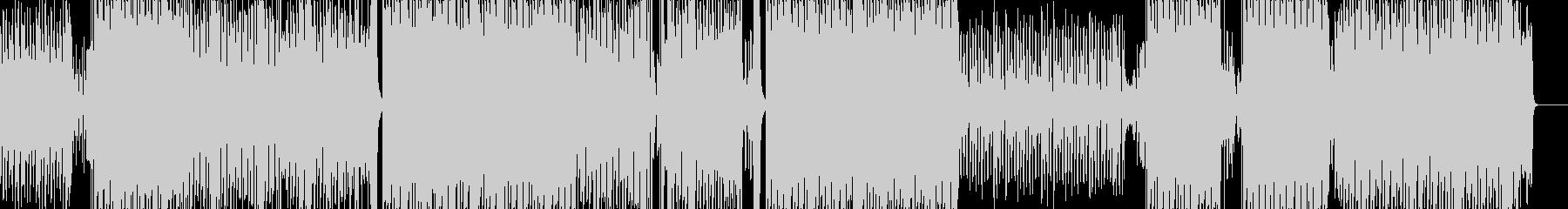 シンプルでユニーク/軽快なエレクトロ音楽の未再生の波形