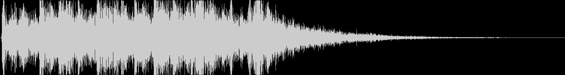ピッチカートとエレクトリックなリズムロゴの未再生の波形