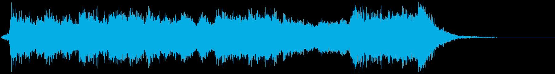 古風で華やかなフルオケジングル合唱付の再生済みの波形