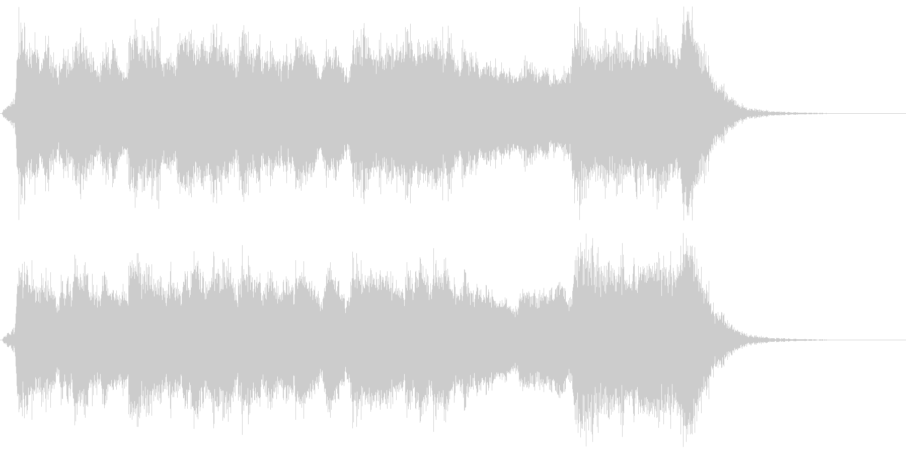 古風で華やかなフルオケジングル合唱付の未再生の波形