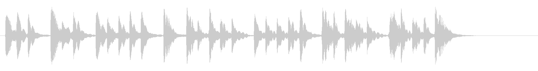 15秒ベル音CM音楽の未再生の波形