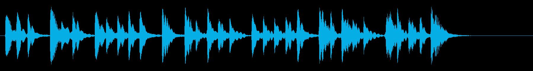 15秒ベル音CM音楽の再生済みの波形