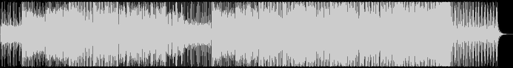 シンセの旋律が印象的な、ほのぼのとした曲の未再生の波形