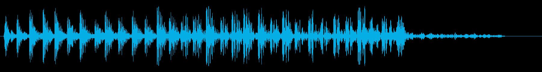 シャララ系ダウン(キュルル)の再生済みの波形
