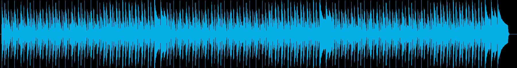 雨の日をイメージした可愛いBGMの再生済みの波形