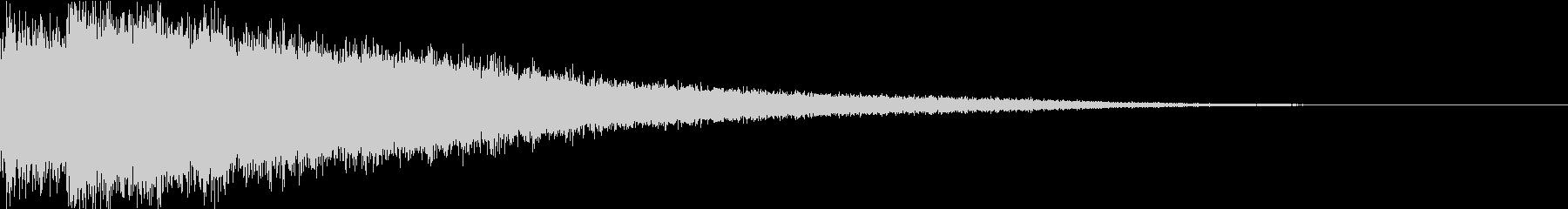 バーン:シンバルを叩く音・衝撃・迫力dの未再生の波形