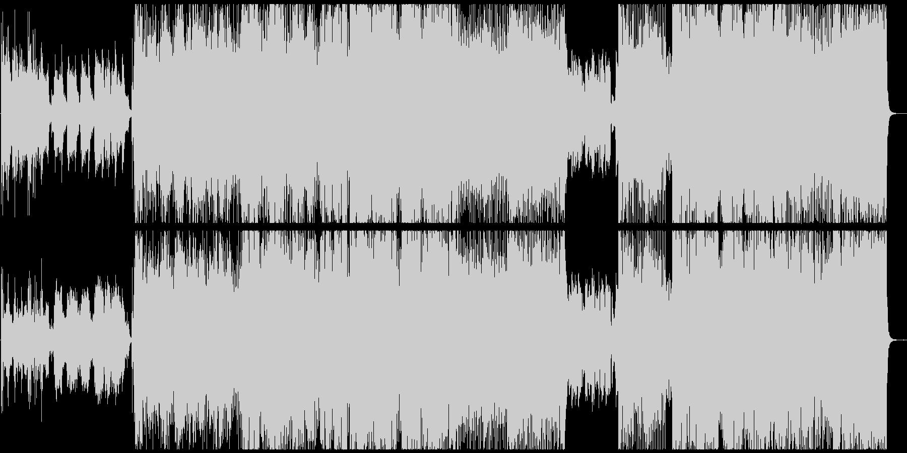 エモーショナルなロックバラードの未再生の波形