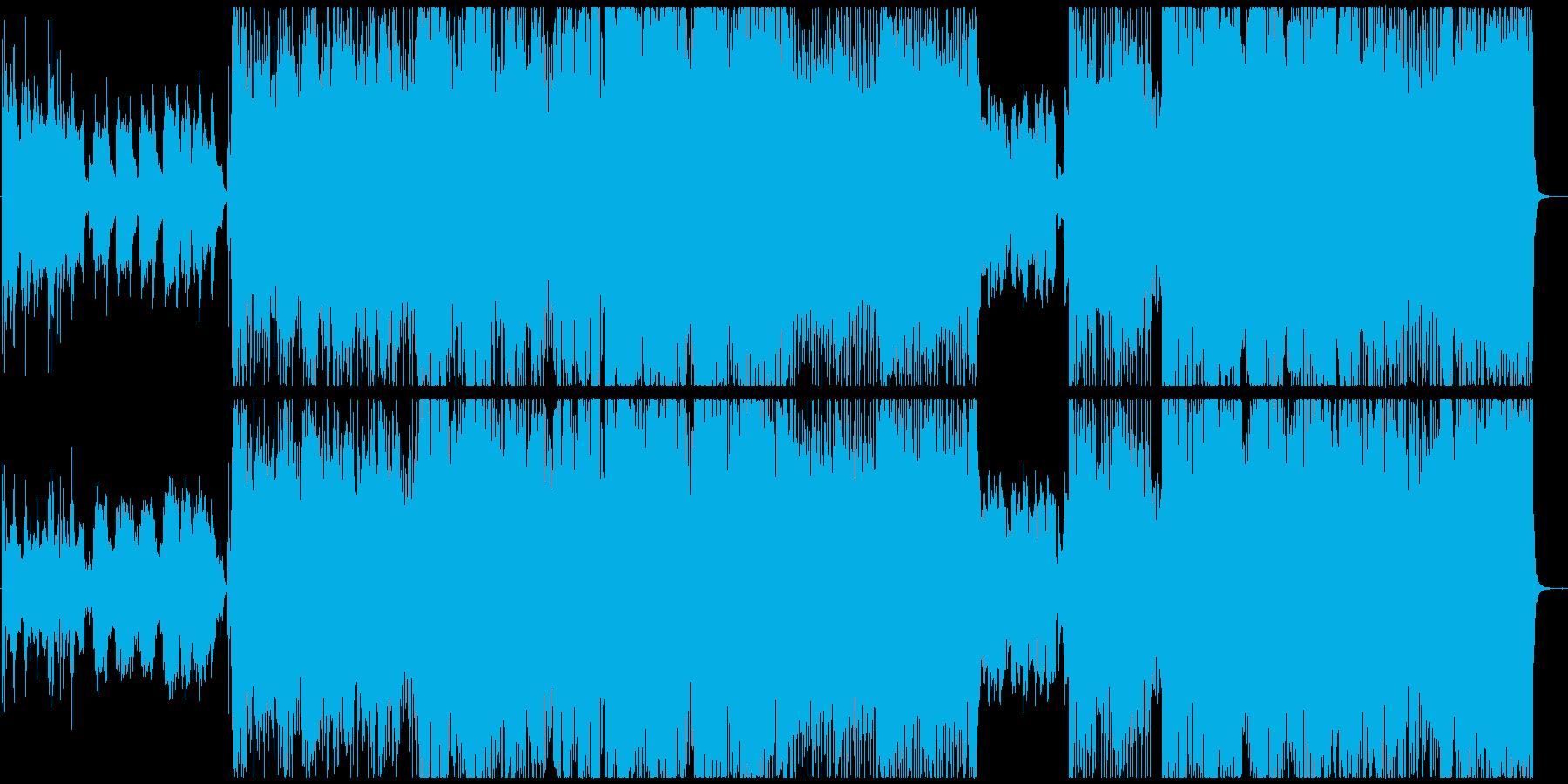 エモーショナルなロックバラードの再生済みの波形