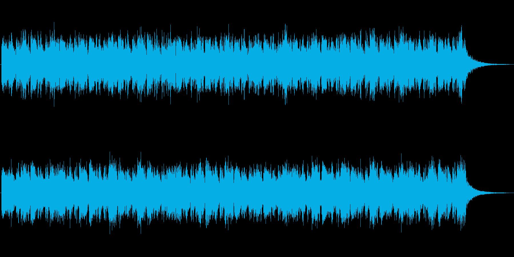 レトロな雰囲気の神秘的なジングルの再生済みの波形
