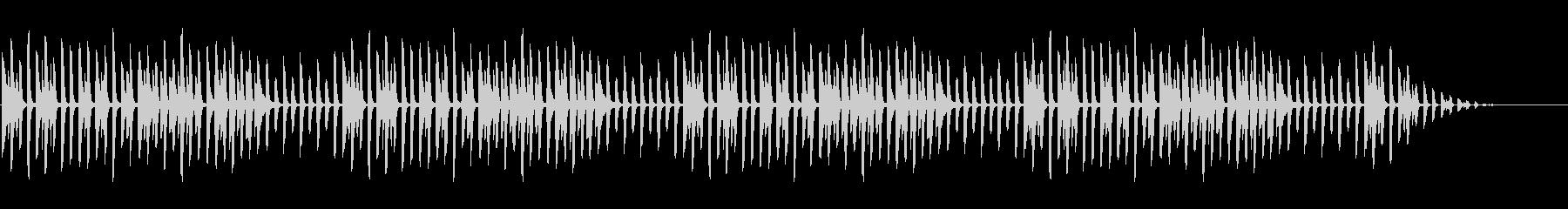 冬の童謡の定番「雪」シンプルなピアノソロの未再生の波形