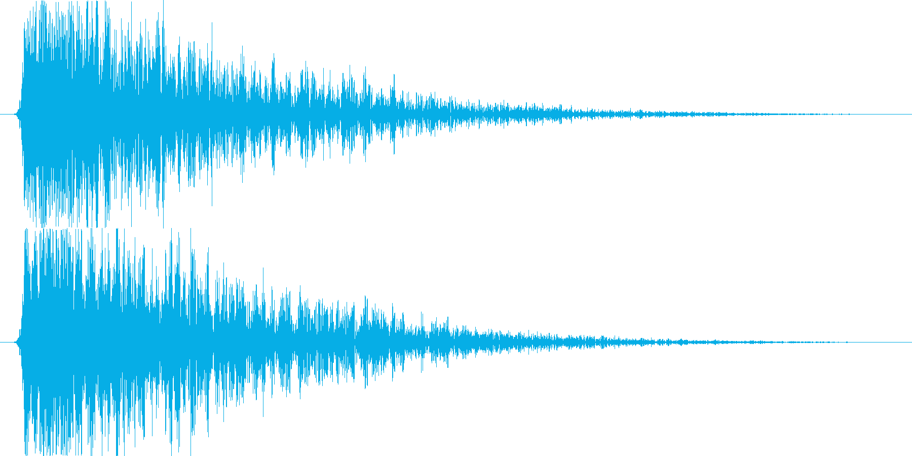衝撃 爆発02の再生済みの波形