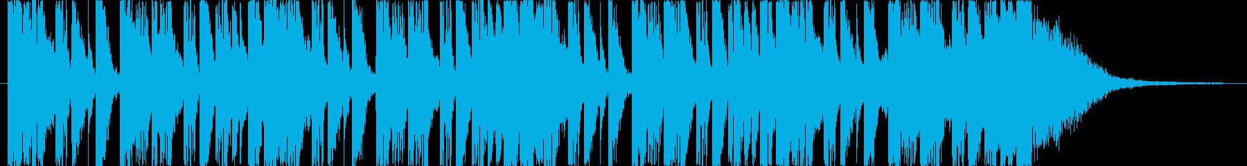 番組アタックやCM,ジングルに最適リズムの再生済みの波形