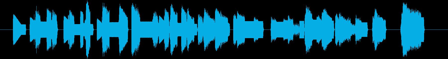 ゆったりとしたCHIPTUNEですの再生済みの波形