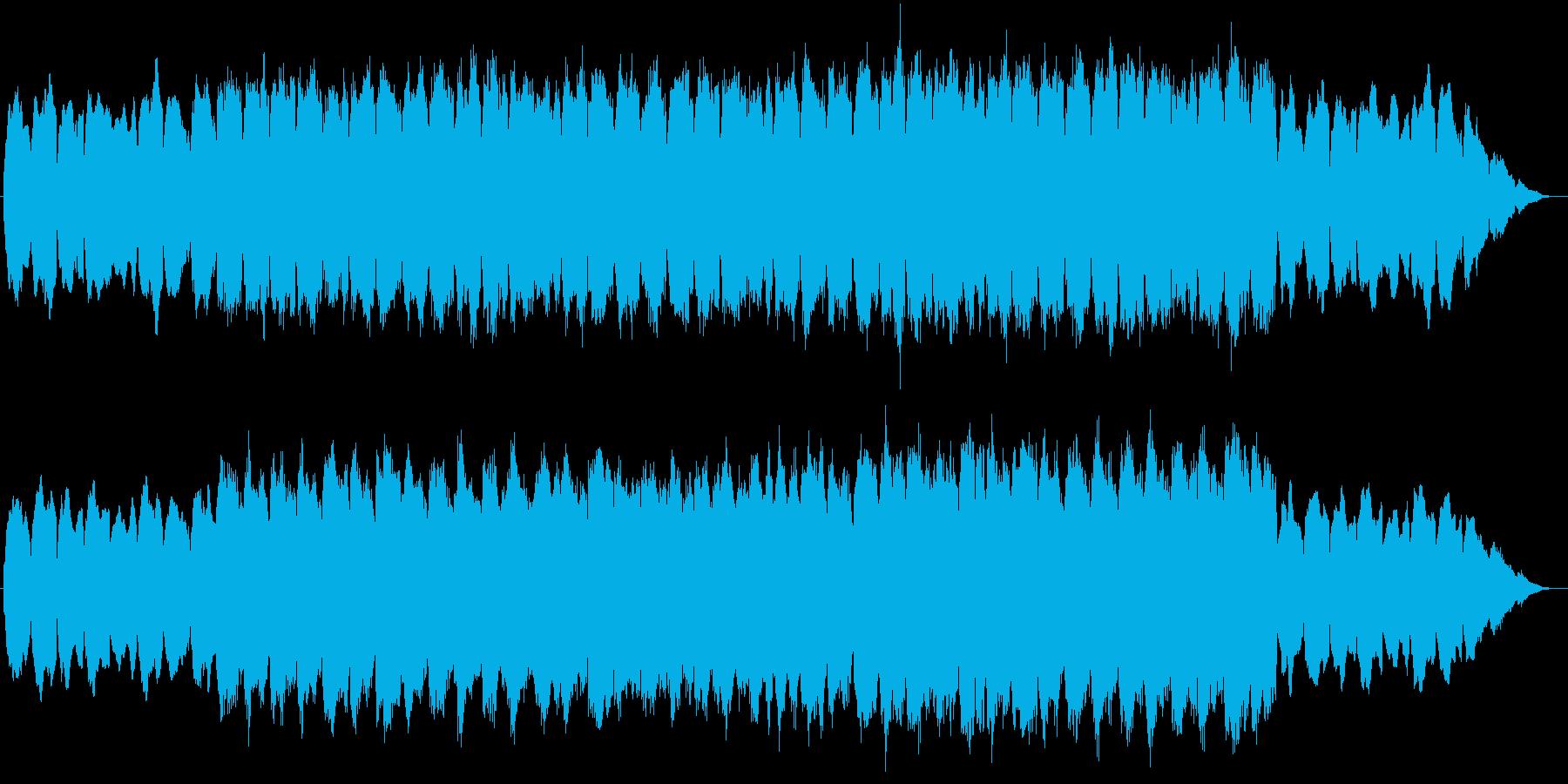静かな海辺を表現した落ち着きのあるBGMの再生済みの波形