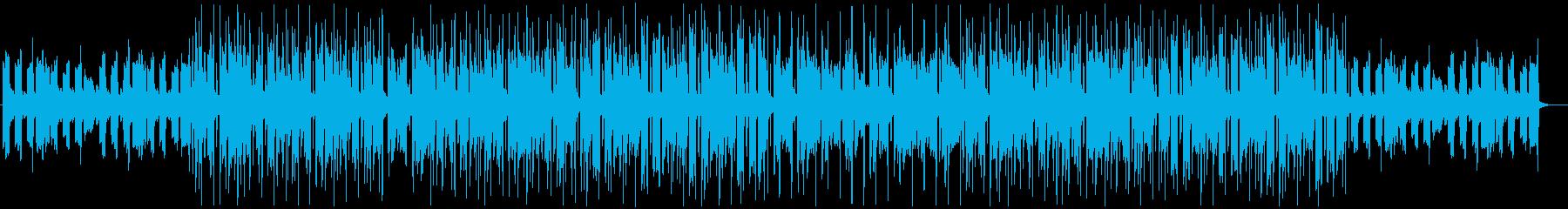 穏やかで優しいエレキギターのチルホップの再生済みの波形