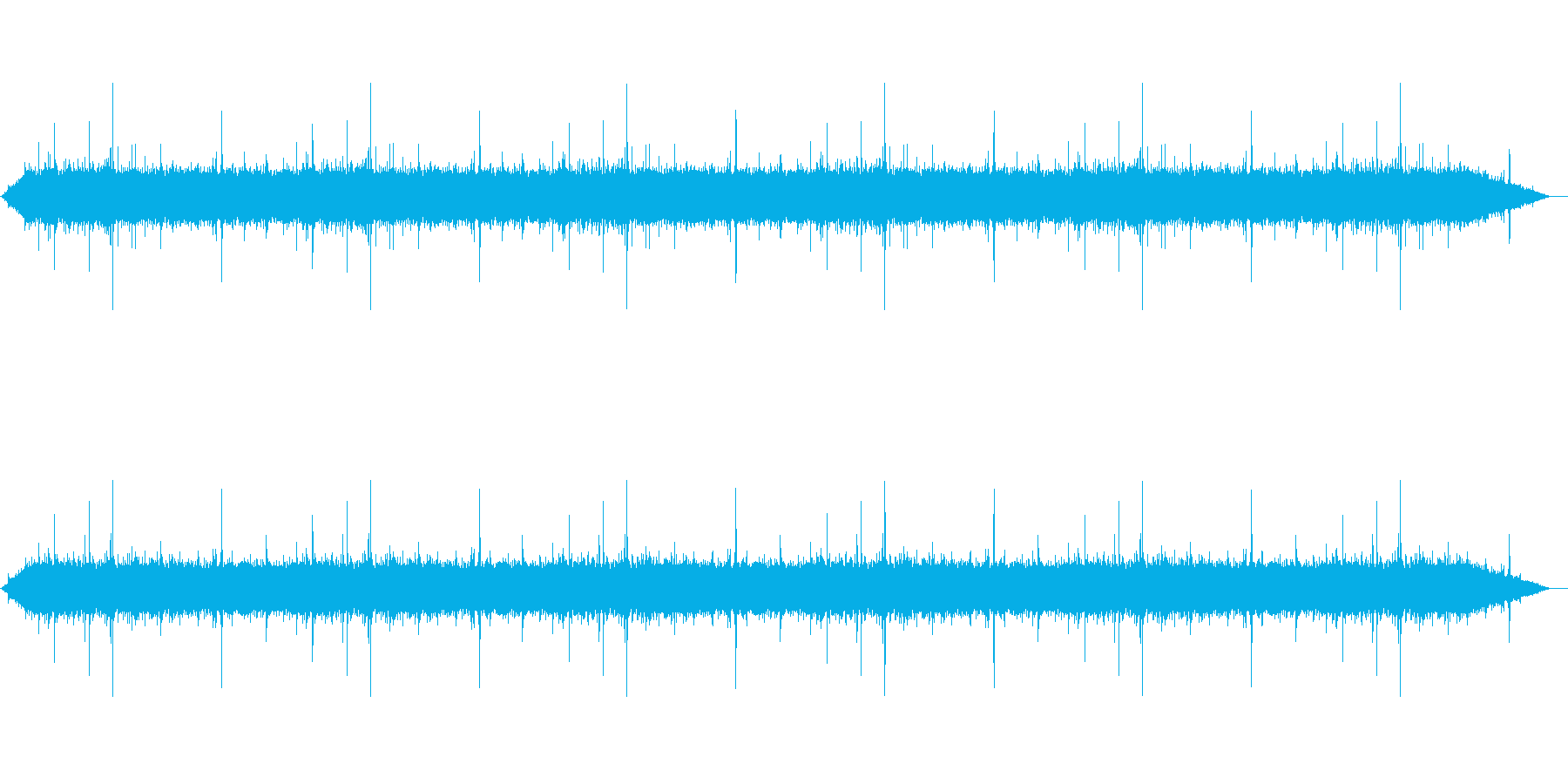 【雨 生録 環境03-2】の再生済みの波形