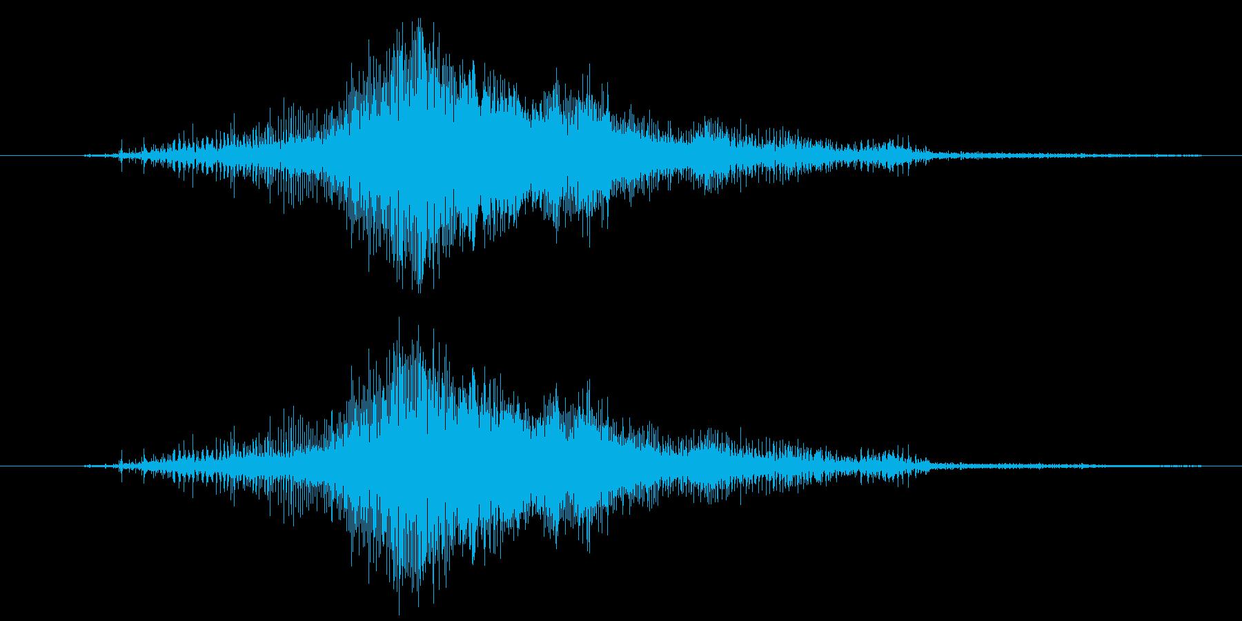 ジー!ジッパーの音。下げる音。上げる音。の再生済みの波形