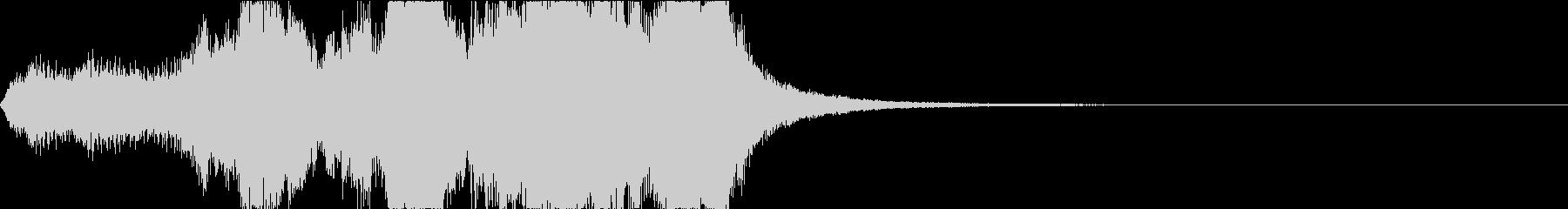ゲーム向けファンファーレの未再生の波形