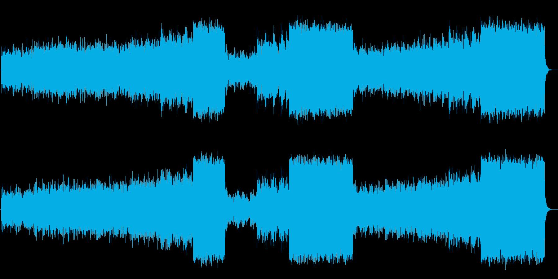 神秘的で幻想的なシンセポップスの再生済みの波形