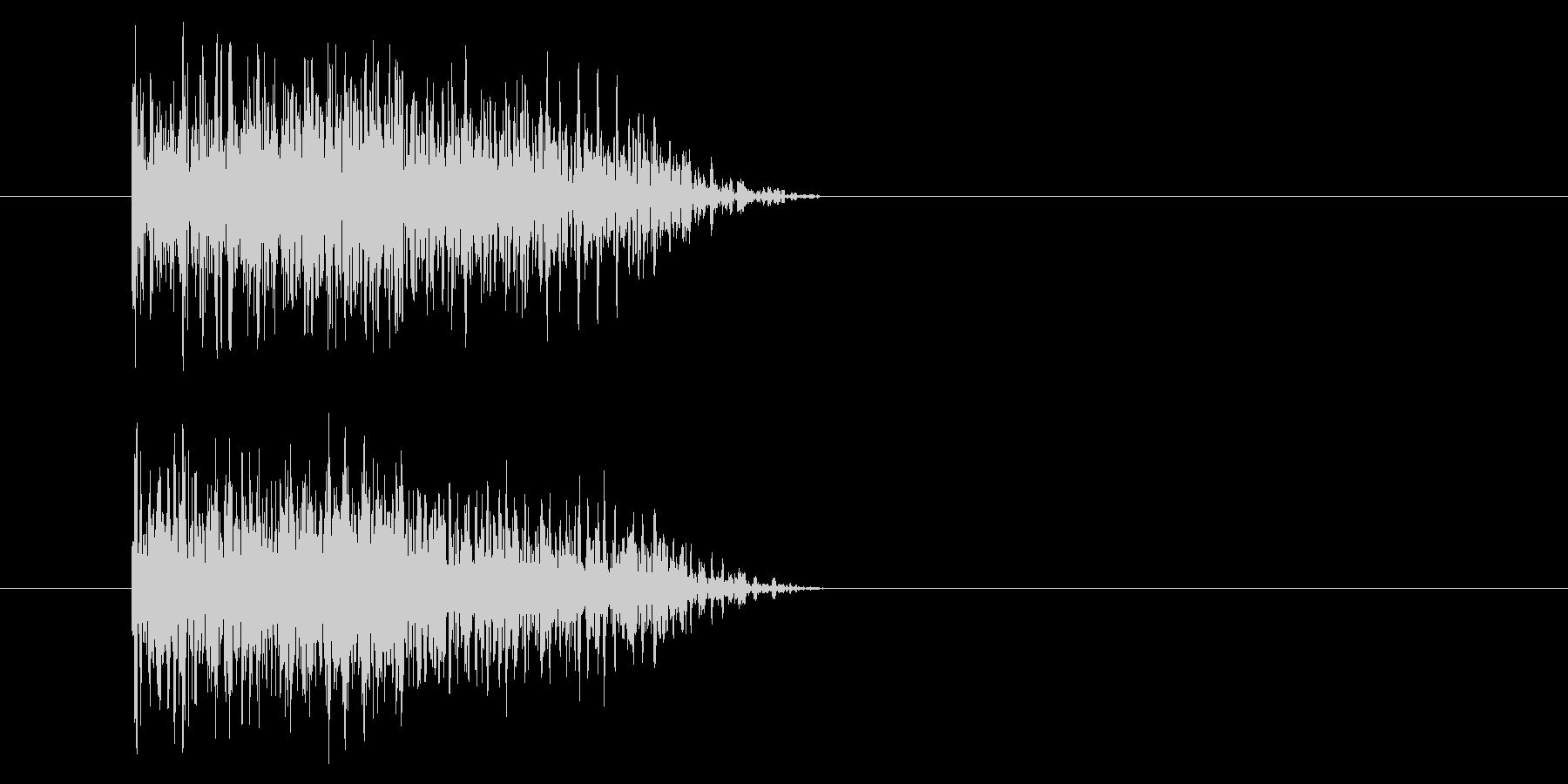 ジャン!豪華なオケヒその1_音程低めの未再生の波形