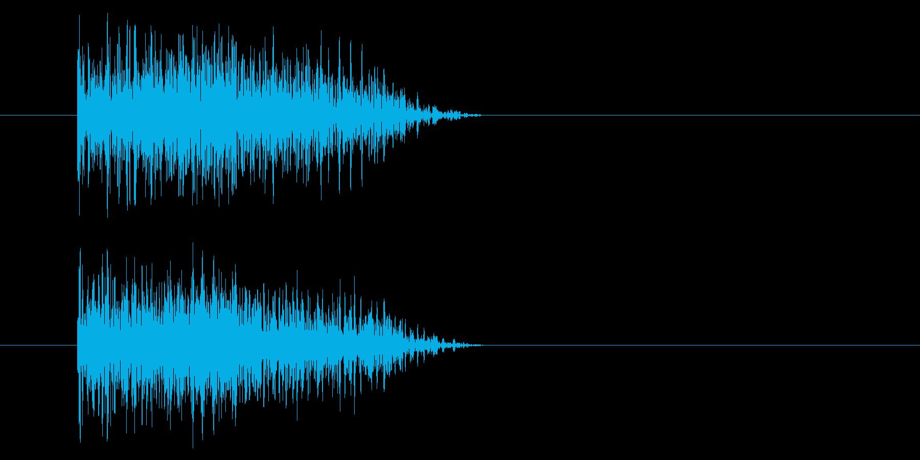 ジャン!豪華なオケヒその1_音程低めの再生済みの波形