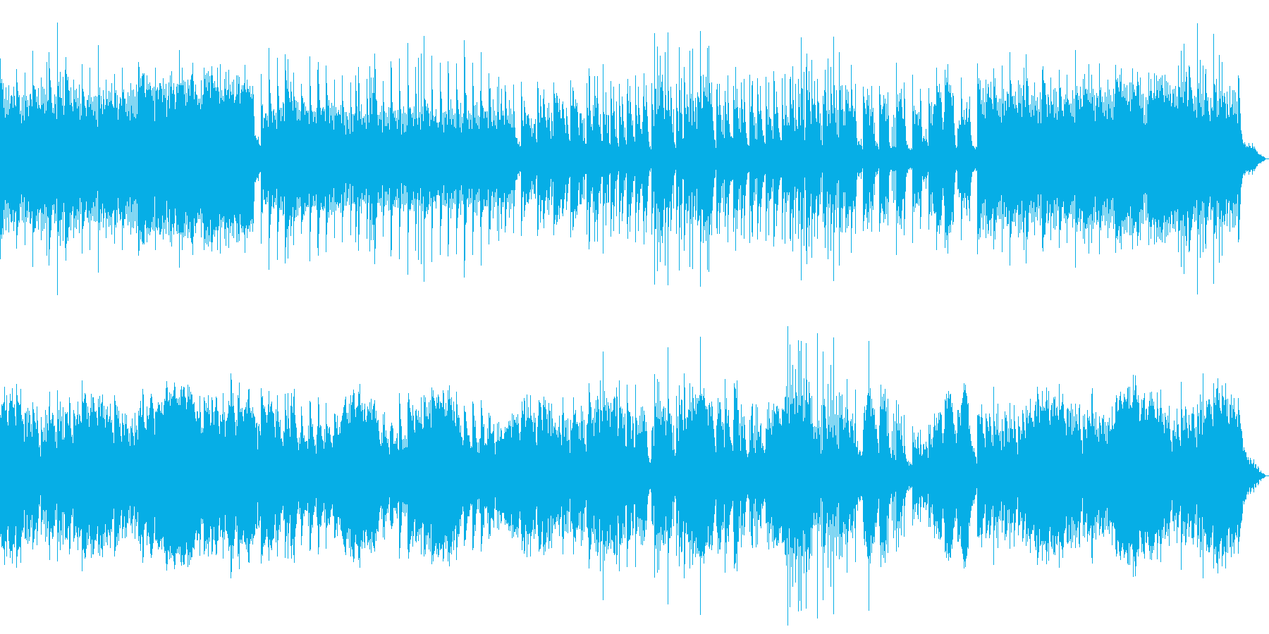 ゆったりと美しいピアノのリラクゼーションの再生済みの波形
