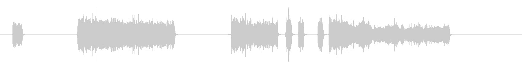 PUFFS-吹く空気-4バージョン1の未再生の波形