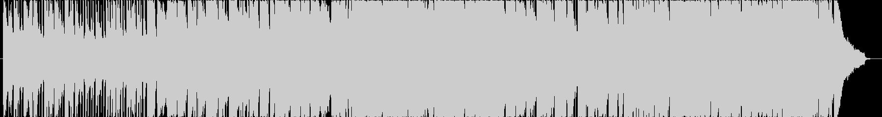 電子音が響く!寂しいSFイメージ・BGMの未再生の波形