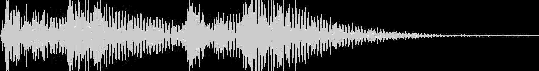 ジャンジャジャン (三味線、太鼓)の未再生の波形
