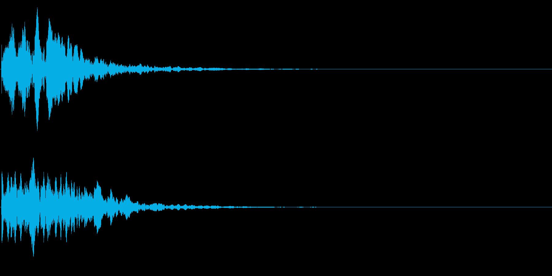 ゲームスタート、決定、ボタン音-023の再生済みの波形
