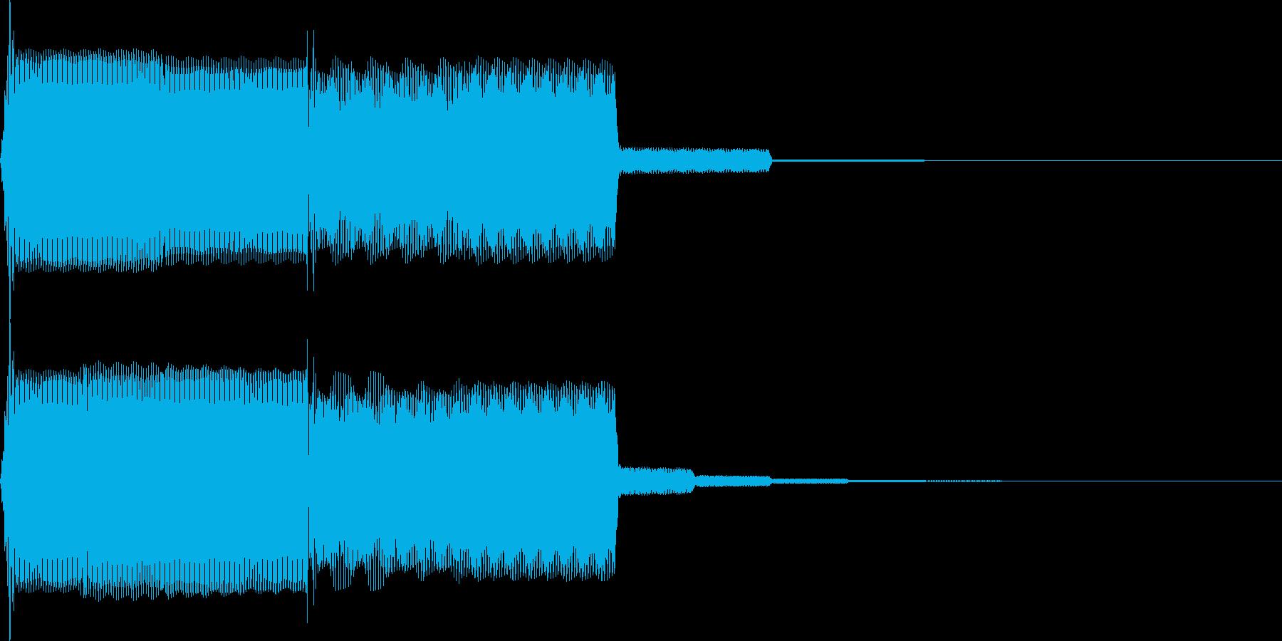 【SE】決定音09(ポピ↑)の再生済みの波形