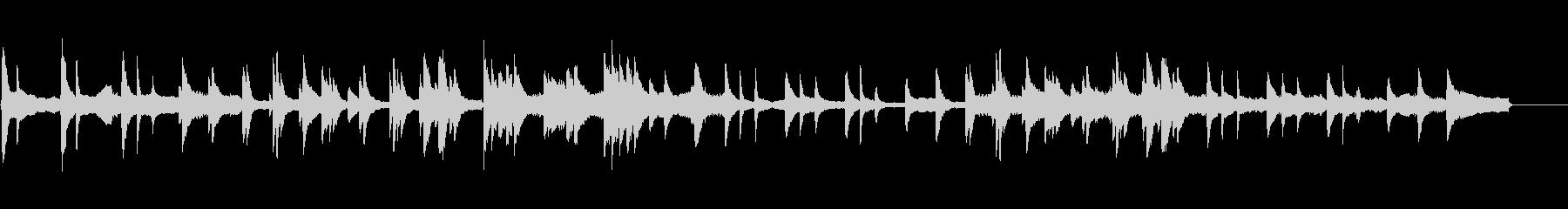 回想シーンでのピアノソロの未再生の波形