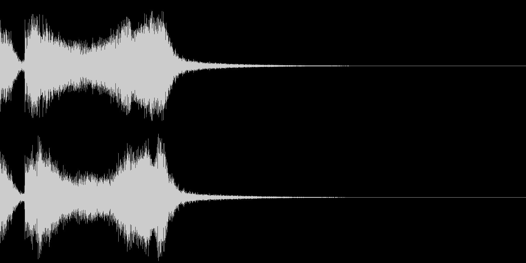 テッテレー3/下がる音の未再生の波形