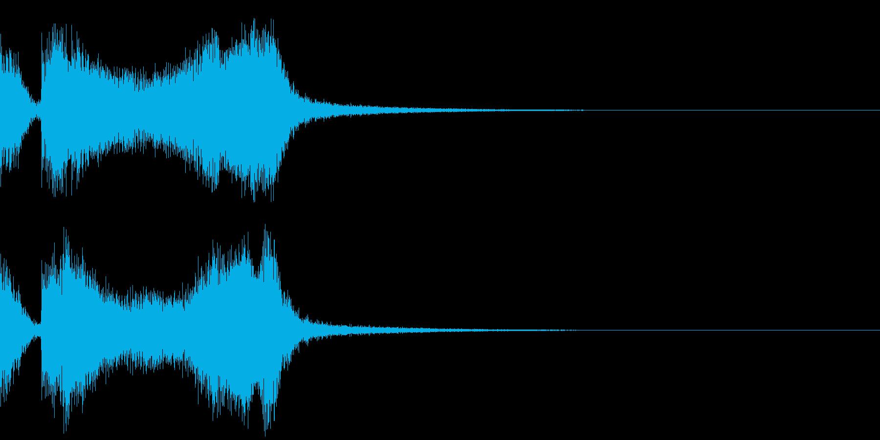 テッテレー3/下がる音の再生済みの波形