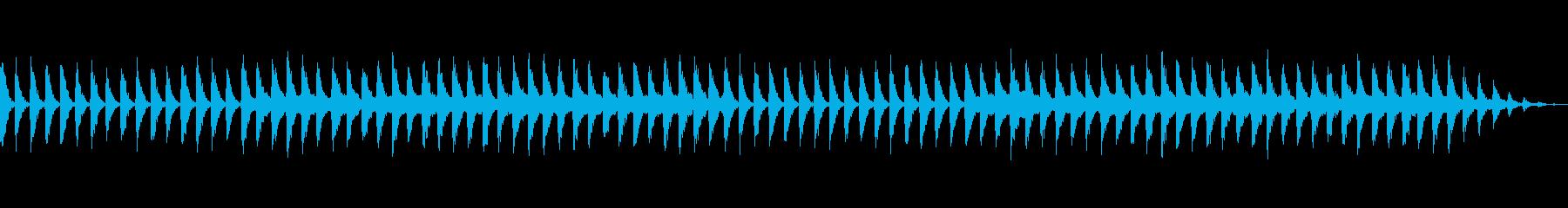 睡眠レベルを高めるリラクゼーション音楽の再生済みの波形