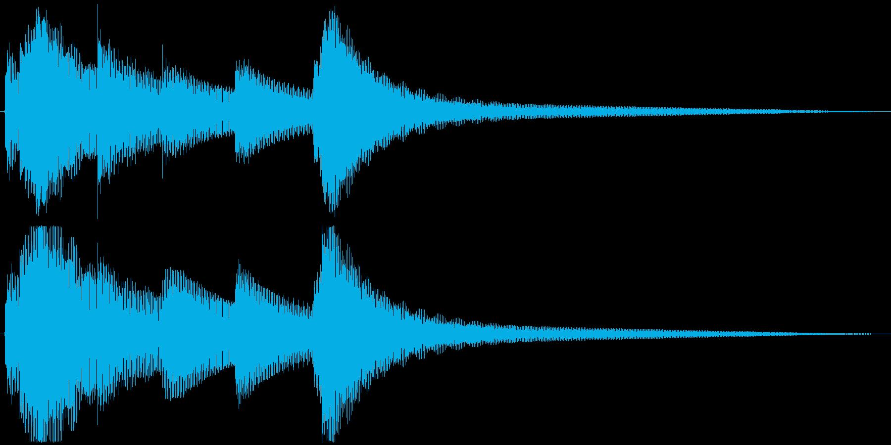 ゲームオーバー・回復などに使えるジングルの再生済みの波形